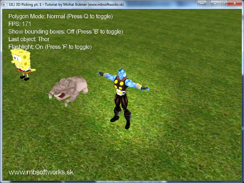 18 ) 3D Picking Pt  1 - OpenGL 3 - Tutorials - Megabyte Softworks